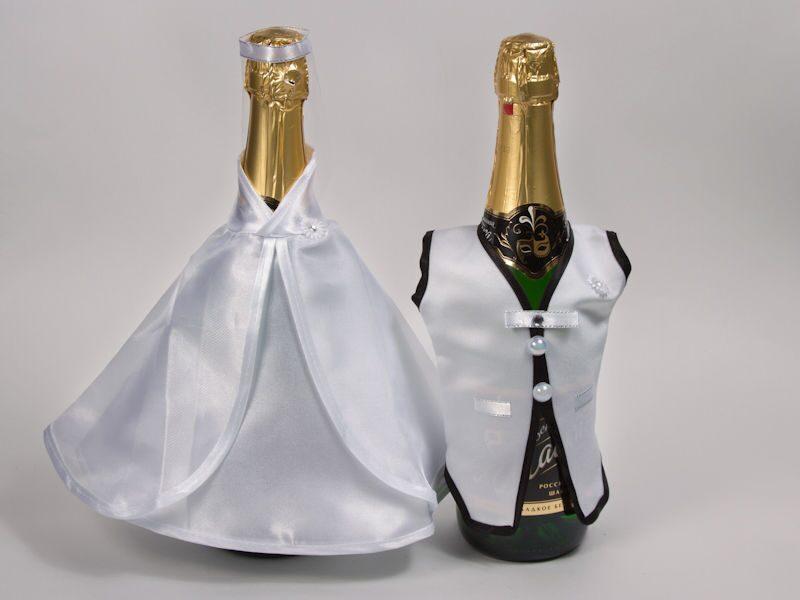 Как украсить свадебную бутылку шампанского своими руками фото 324